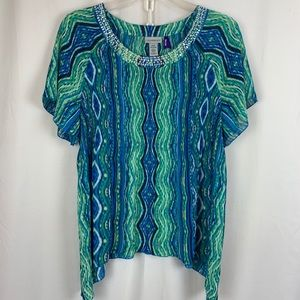 Catherine's NWT accordion pleat stretch blouse